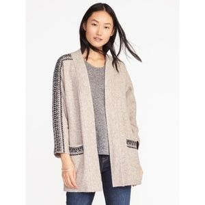 Old Navy Jacquard Open Front Cardigan
